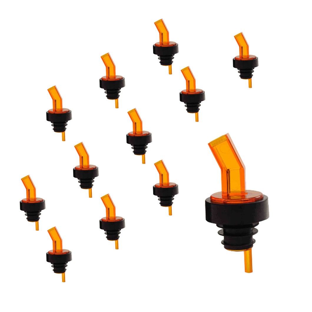 Amber Alcohol and Liquor Bottle Pourer with Screen, Barware (12 PC)