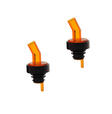 Amber Alcohol and Liquor Bottle Pourer with Screen, Barware (2 PC)