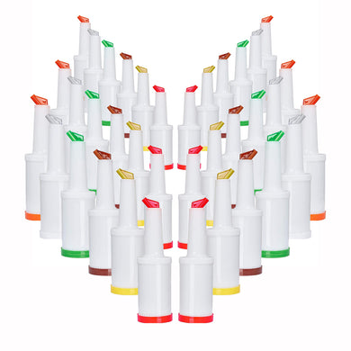 Storer Dispensers, Multi-Colored Pourers for Alcohol 1 QT, Barware (36 PC)