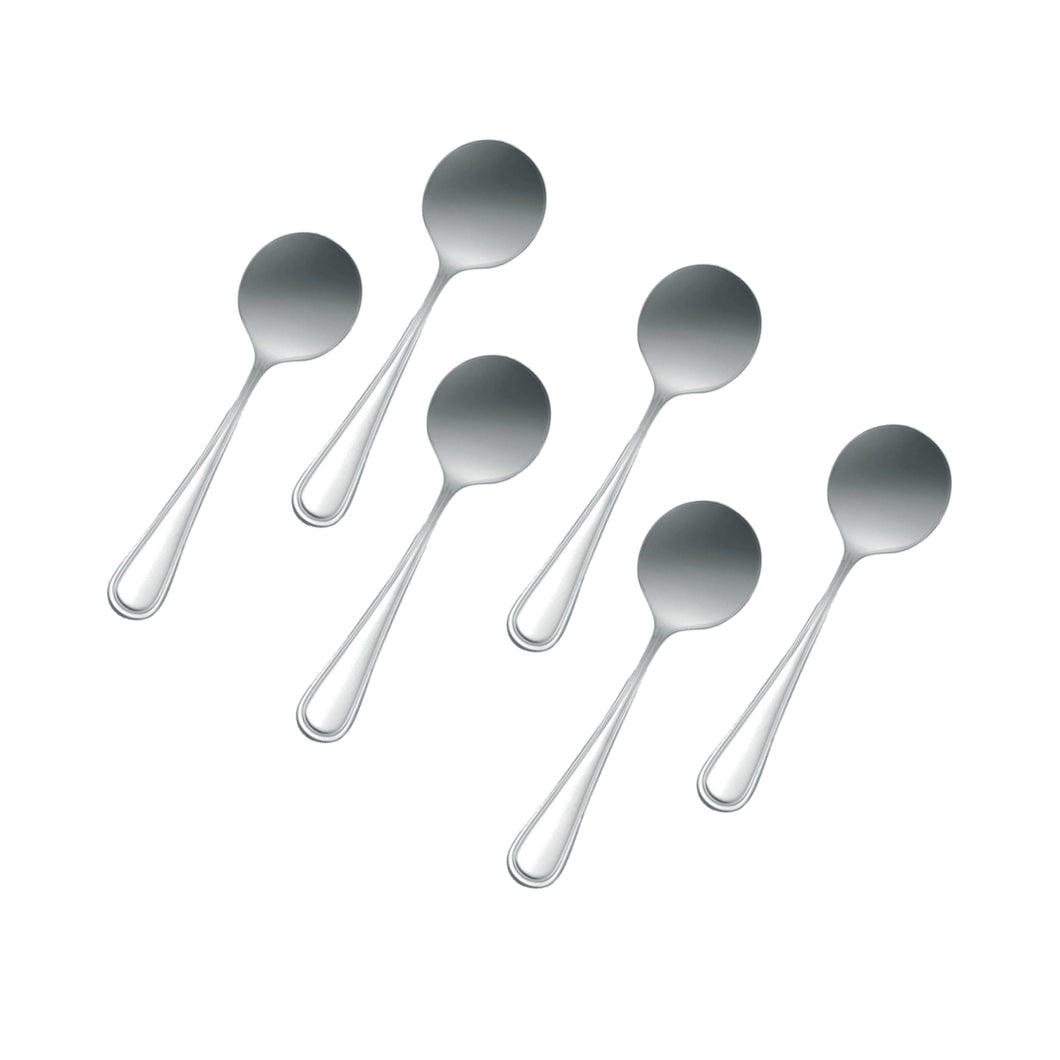 Stainless Steel Bouillon Spoon, Flatware Set 'Atlant' for (6)