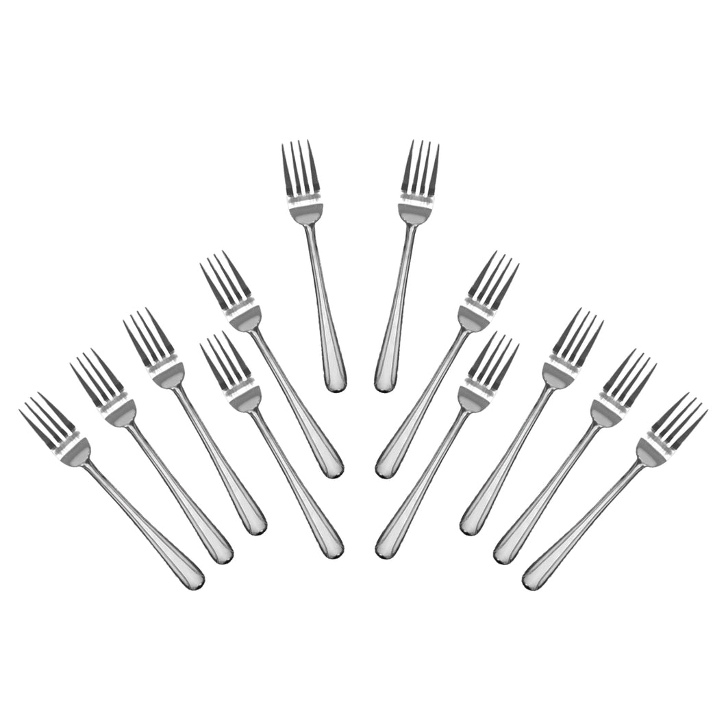 Stainless Steel Heavy Salad Forks, Flatware Set 'Domi' for (12)