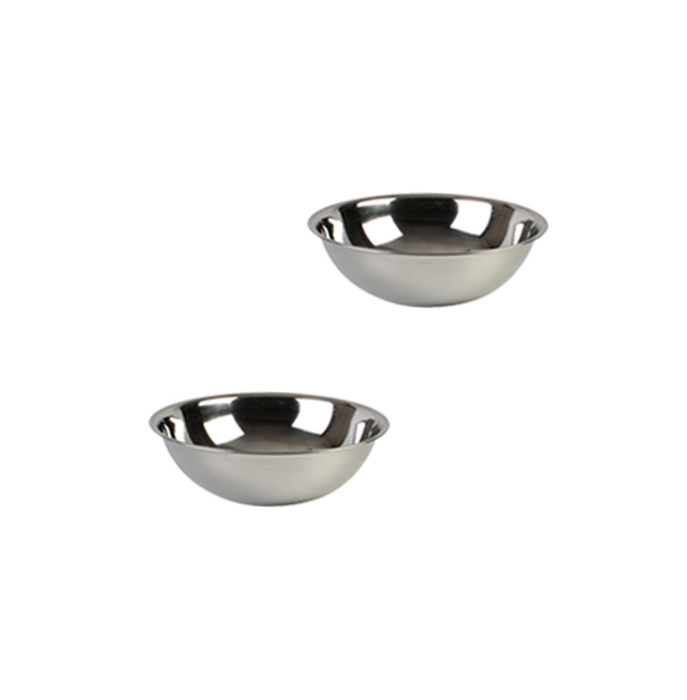 Stainless Steel Heavy Duty Mixing Bowl for Cooking, Bakeware (2 PC, 3/4 QT)