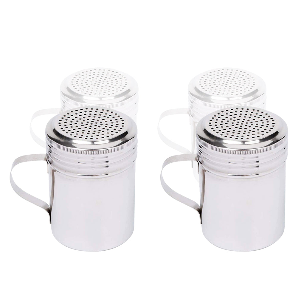 Salt and Pepper Shakers 10 Oz with Handle, Modern Style Kitchen Utensil (2 PC)