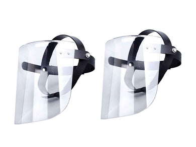 Full Face Mask Shield Clear Flip Up Visor Oil Fume Protection Safety Work Virus Bacterial Protective 2 PC