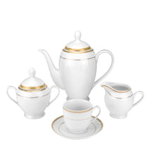 "Royalty Porcelain Vintage Antique Gold 57-pc Dinnerware Set""Isabella"", Premium Bone China"