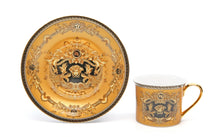 Royalty Porcelain 3-pc Gold Tea Set, Service for 1, Medusa Greek Key, 24K Gold