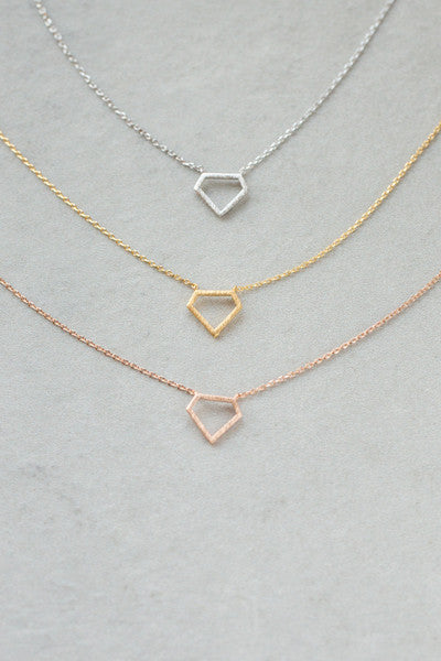 Diamond Outline Necklace