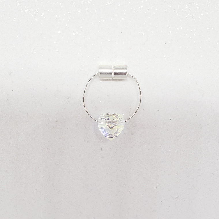 Magnetic Clitoral Clamp - Swarovski Heart