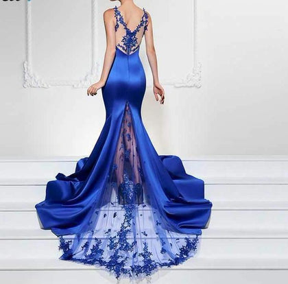 Sexy Royal Blue Formal Evening Dress