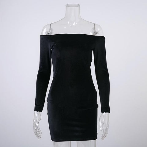 Winter Party Long Sleeve, Elegant Ladies Dress