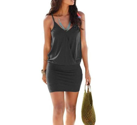 Fashion Beach V-neck Mini Dress