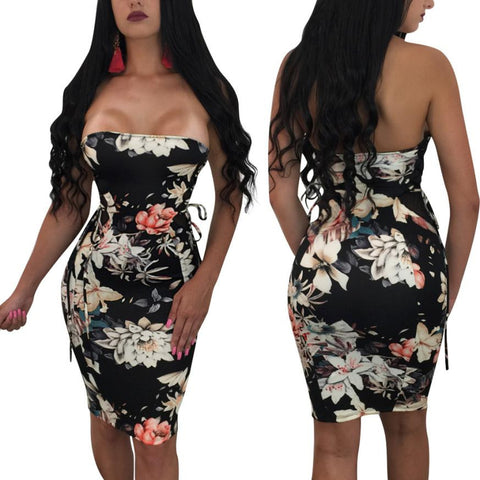 Floral Print Work Business Party Dress