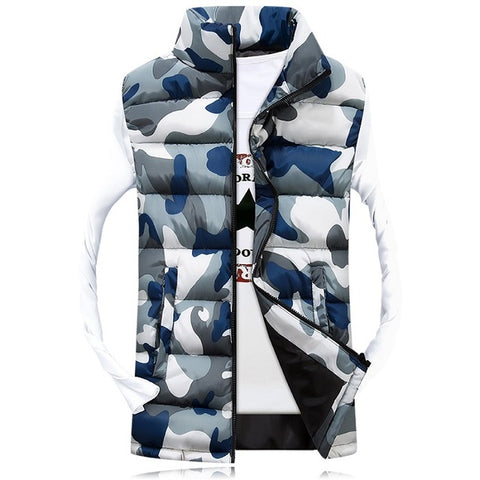 Camouflage Vest Winter Sleeveless Casual Jacket