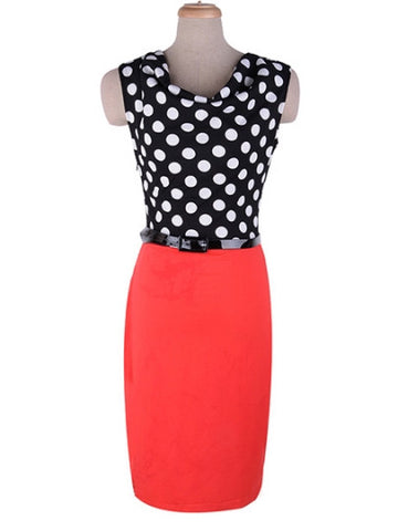 Polka Dots Women's Pencil Dress