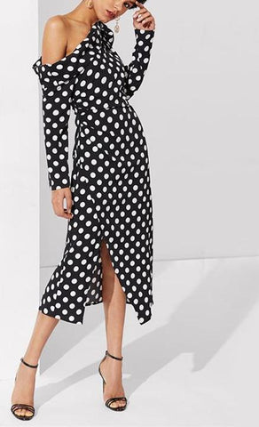 Polka Dot Dress Black and White