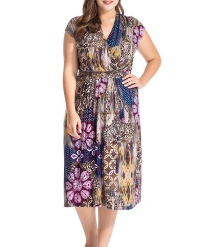 Women's Plus Size Floral Printed Dress