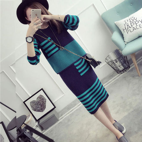 Sweater And Dresses O-Neck Full Sleeve Pullovers .