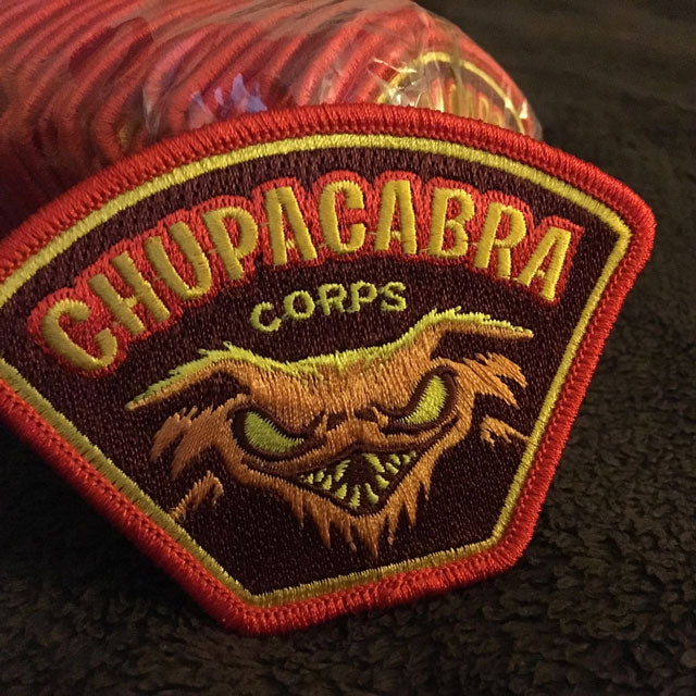 Chupacabra Corps patches are back in stock!