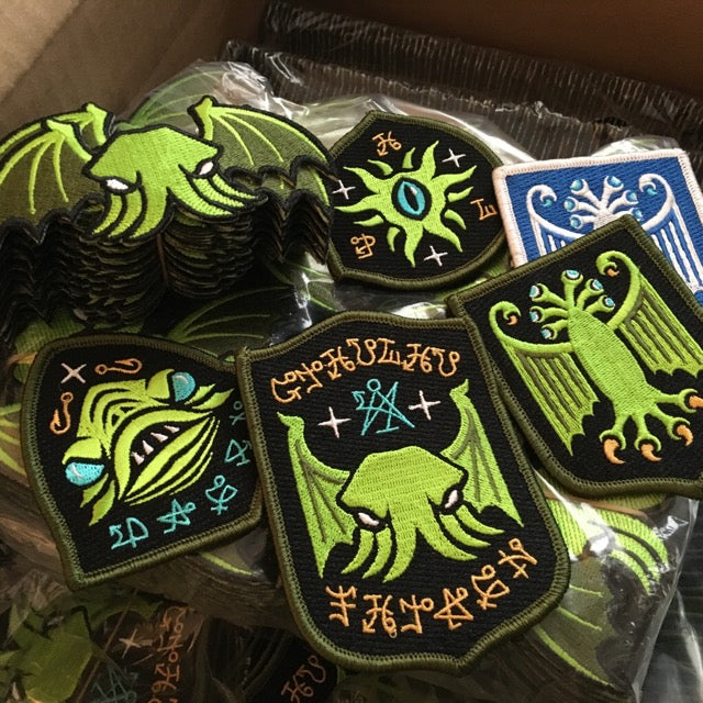 Cthulhu/Lovecraft patches on the shop soon!