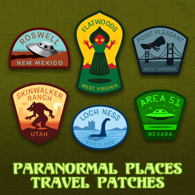 Paranormal Places Travel Patch set on Kickstarter!