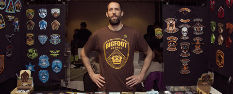 Monsterologist Bigfoot Patrol t-shirt Ohio Bigfoot Conference George Coghill