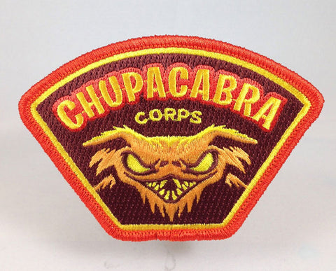 Chupacabra Corps paranormal cryptid embroidered patch.