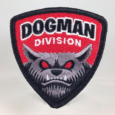 Dogman Division paranormal cryptid embroidered patch.