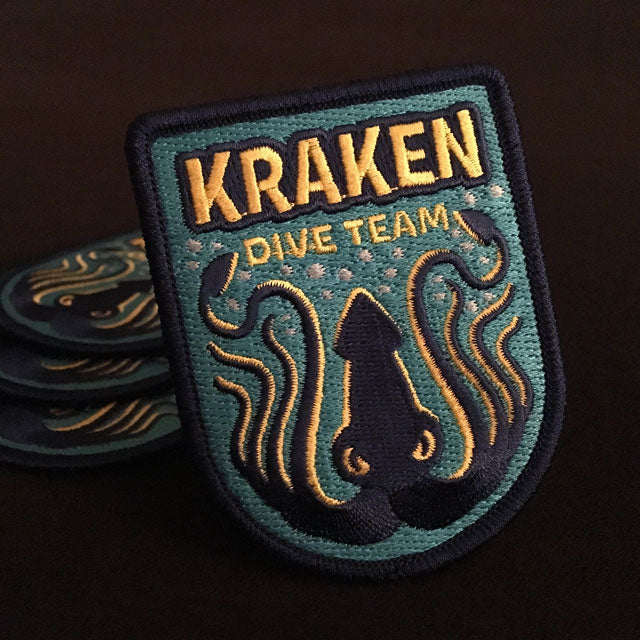 Kraken Dive Team embroidered patch by Monsterologist
