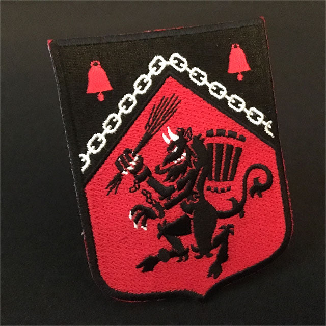 Krampus Rampant heraldic embroidered patch by Monsterologist