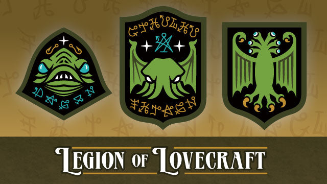 Legion Of Lovecraft Cthulhu embroidered patch set on Kickstarter