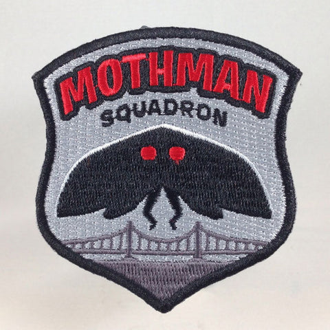 Mothman Squadron paranormal cryptid embroidered patch