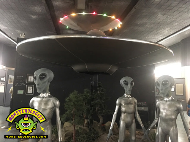 Roswell UFO Museum alien crash life-size diorama.