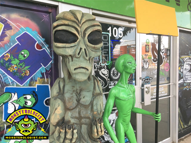 Alien statues in Roswell, New Mexico