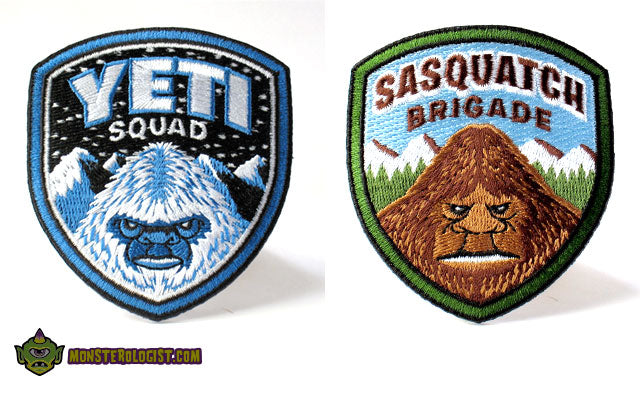 Yeti Squad & Sasquatch Brigade embroidered patches