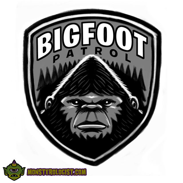 Bigfoot Patrol patch original sketch by George Coghill