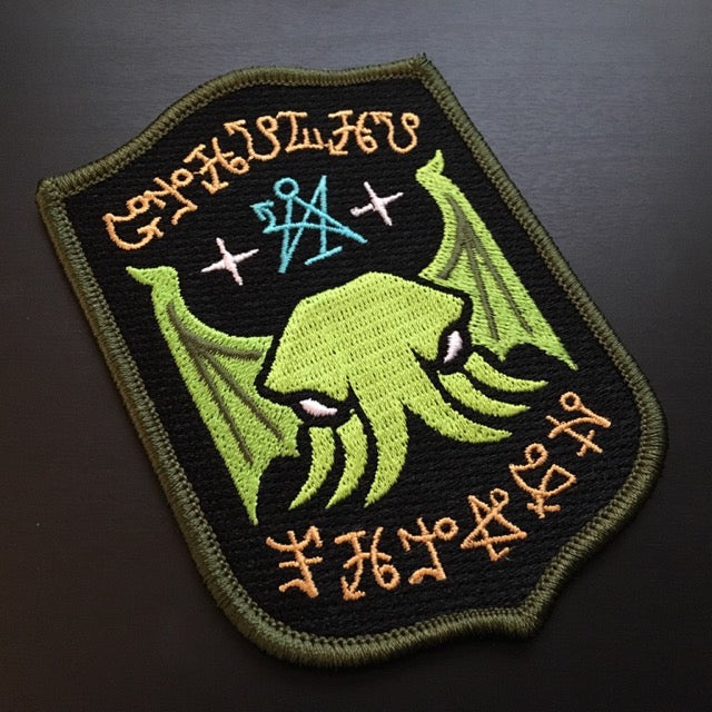 Cthulhu Fhtagn embroidered patch by Monsterologist