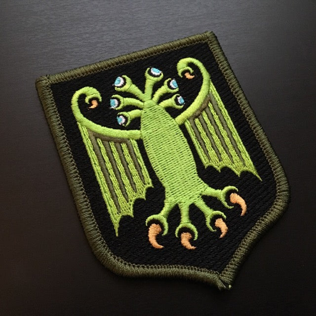 Elder Thing military heraldic embroidered patch by Monsterologist