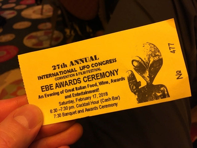 International UFO Congress awards banquet ticket