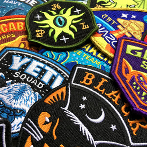 Cryptozoology, paranormal & supernatural embroidered patches by Monsterologist