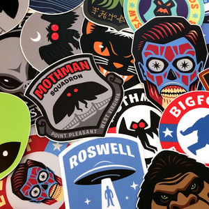 Cryptozoology, paranormal & supernatural vinyl stickers by Monsterologist