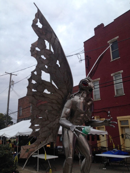 Mothman Statue at Point Pleasant, West Virginia