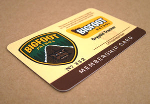 Bigfoot Patrol membership card