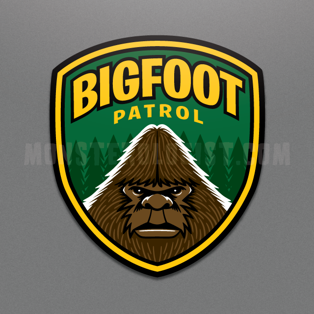 Bigfoot Patrol window cling
