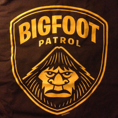 Bigfoot Patrol screenprinted t-shirt.