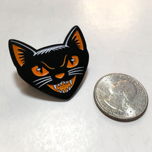 Load image into Gallery viewer, Black Cat enamel pin