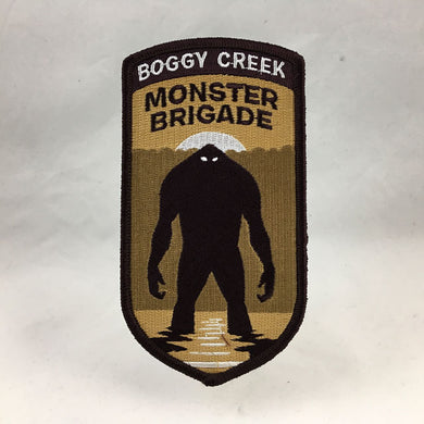 Boggy Creek Monster Brigade legend cryptozoology military themed embroidered morale patch | Monsterologist