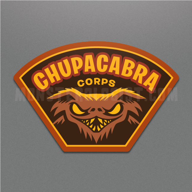 Chupacabra Corps military insignia sticker by Monsterologist