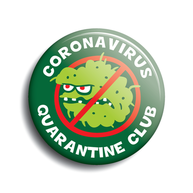 Coronavirus Quarantine Club button