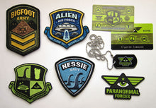 Cryptid Command Officer Kit Kit Bigfoot Nessie Alien Ufo Patch Dog Tag Items