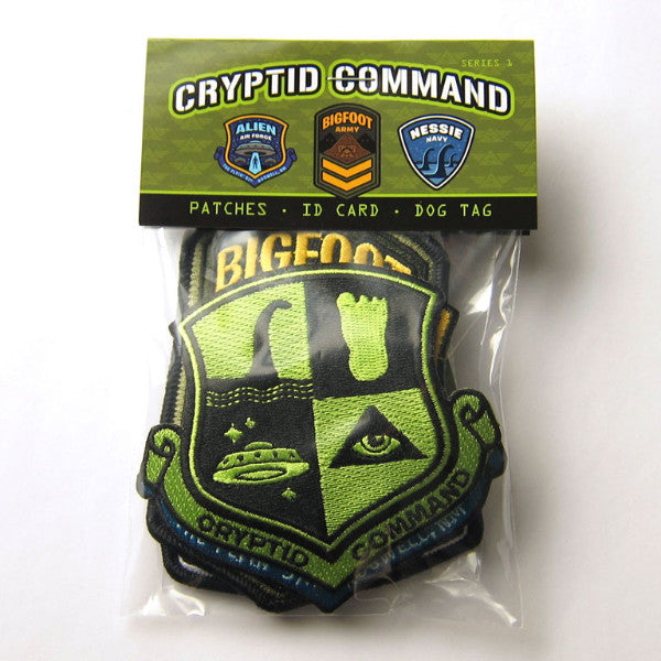 Cryptid Command Officer Kit Kit Bigfoot Nessie Alien Ufo Patch Dog Tag